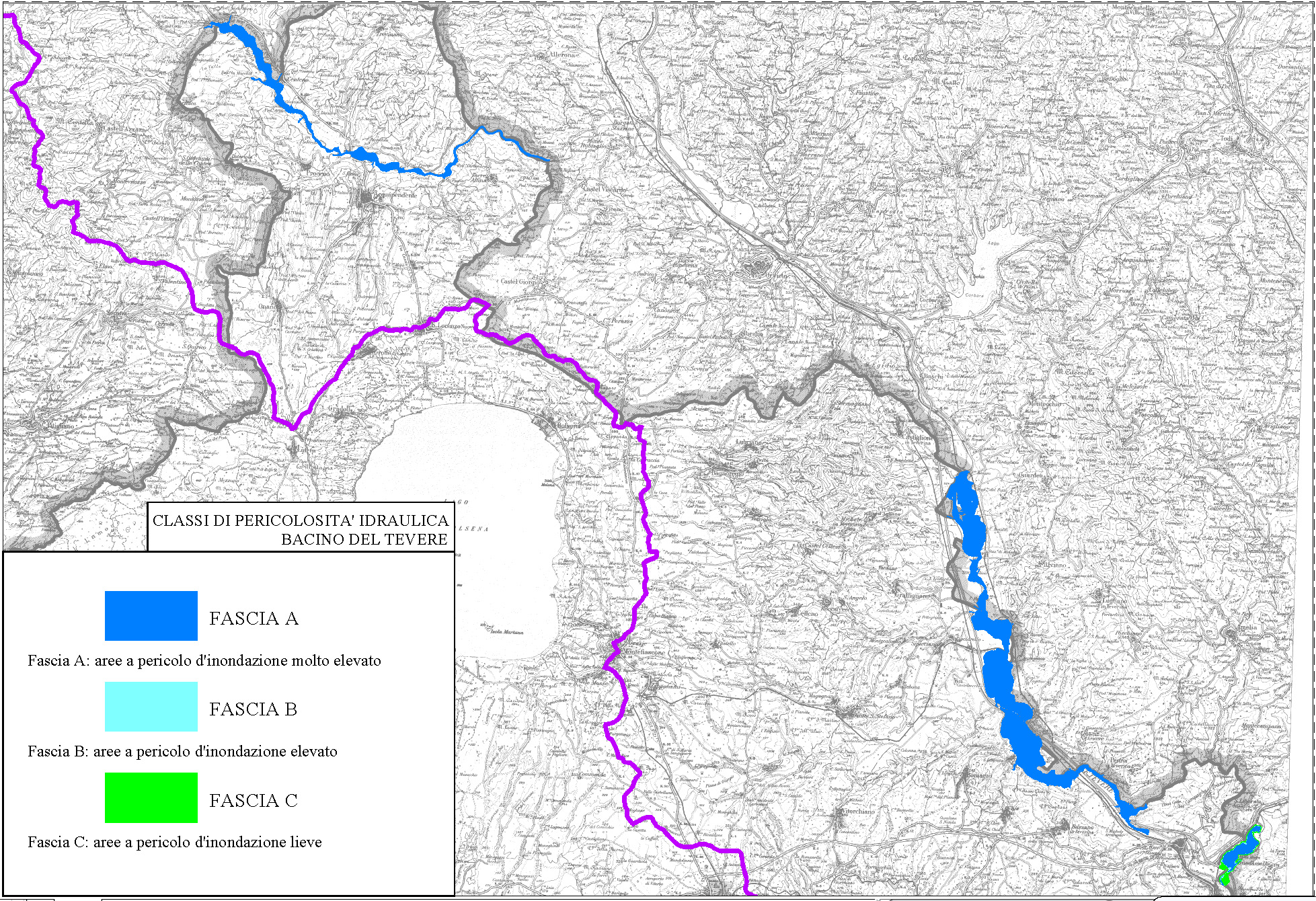 Cartina Geografica Di Viterbo E Provincia.Provincia Di Viterbo Piano Provinciale Di Protezione Civile